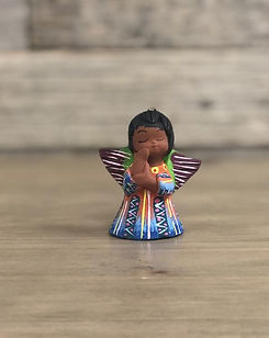 Shop With a Mission Angel Ornament. Hand painted and fair trade. https://shopwithamission.com/collections/christmas-decor