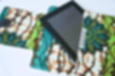 Amani Ya Juu kitenge fair trade tablet sleeve. https://amaniafrica.org/collections/stationery