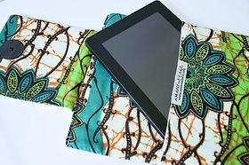 Amani Ya Juu kitenge fair trade tablet sleeve. https://amaniafrica.org/collections/stationery