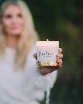 Freedom Studios Freedom Candle.  Made by survivors of human trafficking.
