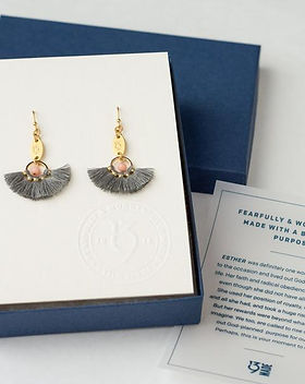 139Made Esther earrings. Ethically made earrings inspired by Scripture, which give back to fight human trafficking. https://www.139made.com/collections/jewelry