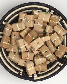The Sparrow Studio guest soap minis. Handmade in Tanzania and gives back to fund sanitation programs for the women who make the soap!