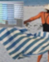 Mango + Main Fair Trade Beach Towel.