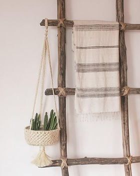 Mango + Main hanging basket planter. Fair trade decor. https://mangoandmain.com/collections/for-the-home