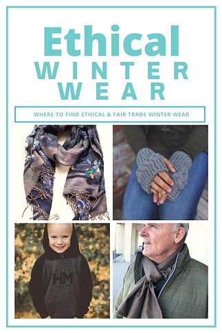 Ethical Winter Wear: Where to find ethical & fair trade winter wear for the whole family. #ethicalfashion
