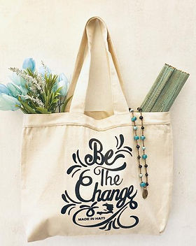 """Papillon """"Be the Change"""" Tote."""