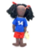 Papillon Fabiola Soccer Doll. Handmad in Haiti.