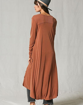 Atonement Design Ribbed Cardigan in Rust.