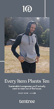 tentree Men's Sustainable Loungewear: Every Item Plants Ten Trees.
