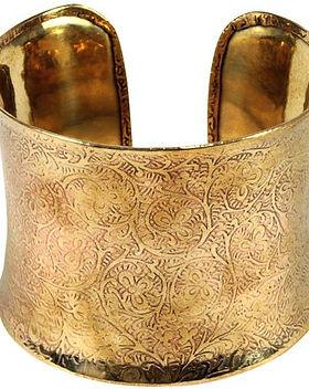 Fair Tribe Vine Detail Bronze Cuff Bracelet.  Fair Trade.