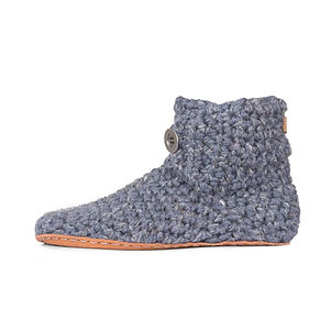 Kingdom of WOW Men's High Top Slippers.