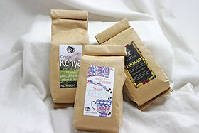 Rafiki Foundation East African Coffee. Direct Trade and gives back to support widows.