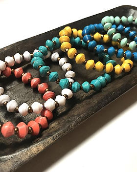 Mango and Main Stacking Bracelets, handmade in Haiti.