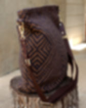 Persona Grata Brown Carpet Bag Purse. Made in the USA by refugees. http://personagratagoods.com/product-category/bags/