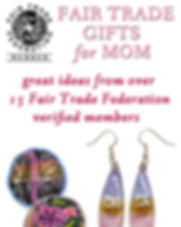 Fair Trade Moms Day Gifts from Dunitz Jewelry.