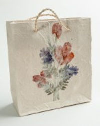 Eternal Threads fair trade gift bags. Handmade with pressed flowers. https://eternalthreads.org/?s=gift+bag&post_type=product