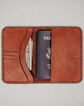 Haiti Design Co. Leather Passport Cover. Ethically made in Haiti. http://haitidesignco.org/shop/?category=Men%27s
