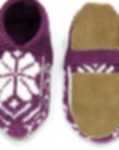 Azerbaijani Women's Slipper Socks Purple. Ethically handmade. https://www.etsy.com/shop/AzerbaijaniSocks
