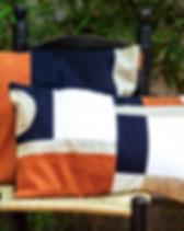 Haiti Design Co patchwork pillow sham. Ethically handmade. http://haitidesignco.org/shop/?category=Home+%26+Gift