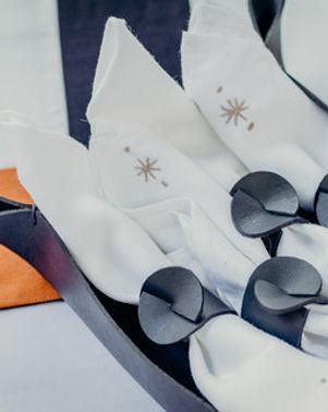 Haiti Design Co Leather Napkin Rings. Ethically made. http://haitidesignco.org/shop/?category=Home+%26+Gift