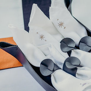 Haiti Design Co Leather Napkin Rings. Ethically made in Haiti.