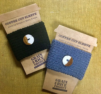 Grain of Rice Project Coffee sleeve.