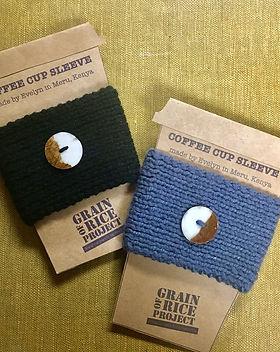 Grain of Rice Project Coffee sleeve. Fair trade teacher gifts.