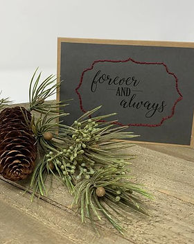 Rosie's Boutique Haiti Forever and Always handmade wedding card.