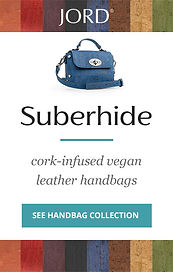 Jord Vegan Handbag Superhide: cork-infused began leather handbags.