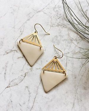 Sela Designs earrings. Made in USA and 100% of profits donated to charity. https://www.seladesigns.com/