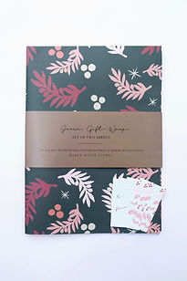 Mercy House Cranberry Wrapping Paper. Made in USA.