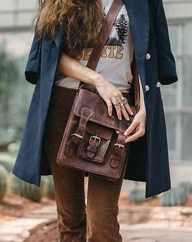 Atitlan Leather Messenger Bag.