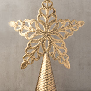 Trades of Hope Golden Star Tree Topper.