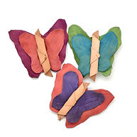 Dunitz and Company Fair Trade Butterfly Barrettes Set of 3