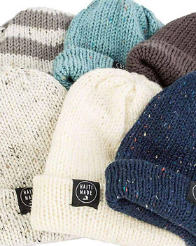 Give a Damn Goods beanies. Ethically handmade in Haiti. https://giveadamngoods.com/collections/shop-beanies-hats
