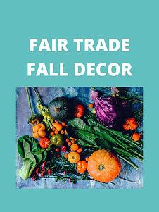 Fair Trade Fall Decor 2020 Guide