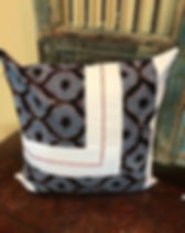 Sewing God's Seeds pillow cover. Handmade in Rwanda and profits go to support missions. https://sewinggodsseeds.com/market?category=Home+Goods