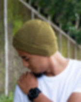 Muezart Men's Green Knit Beanie. Ethically-made.