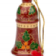 Ten Thousand VIllages Holly Jolly Bell Ornament. Handmade and fair trade. https://www.tenthousandvillages.com/nativities-and-festive-decor