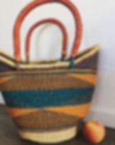 Naupaka African Market Basket. Handwoven.