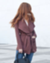 Elegantees Albright Brown Cardigan. Ethically-made in Nepal by survivors of human trafficking. https://elegantees.com/collections/cardigans