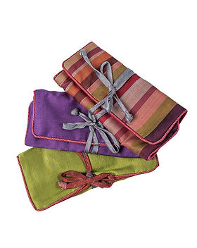Freedom's Promise Silk Jewelry Roll. Fair Trade and handmade in Cambodia. https://www.freedomspromise.org/product/silk-jewelry-roll/