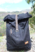Bought Beautifully canvas roll backpack. Ethically-made. https://boughtbeautifully.org/collections/backpack