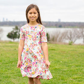 Vickery Trading Co. Manoa Girl's Dress. Made in the USA by refugees.