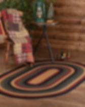 The Village Country Store oval jute rug.