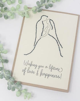 Rosie's Boutique Love and Happiness Handmade Wedding Card.