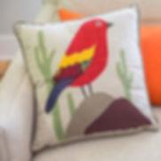 Amani Ya Juu bird pillow. Fair trade gifts.