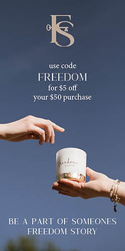 Freedom Studios Freedom Candle: Made by Survivors of Human Trafficking.
