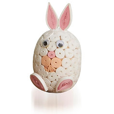 Serrv Fair Trade Easter Quilled White Bunny