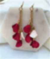 Nightlight Design Rose Petal Drop Earrings. Ethical Valentine's Day Gifts that Give Back.